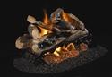 Picture of Charred Rugged Split Oak See Thru Vented Log Set
