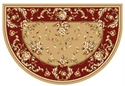 Picture of Coffee & Red Floral Hearth Rug