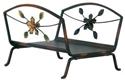 Picture of Burnished Bronze Flower Design Log Basket