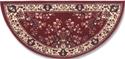 Picture of 56'' Burgundy Oriental Virgin Wool Half-Round Rug